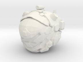 Custom IMC v2 Pilot Inspired Head for LEGO in White Natural Versatile Plastic