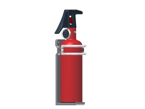 1:6 Scale approx.-Fire Extinguisher Assy - Dissemb in White Processed Versatile Plastic
