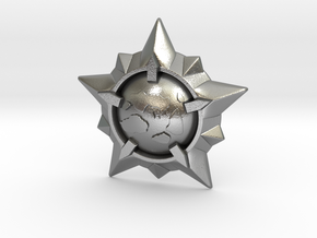 World Exploration Star in Natural Silver