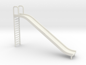 Playground Slide - 'O' 48:1 Scale in White Strong & Flexible