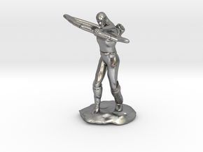 Elf Ranger with Longbow in Natural Silver