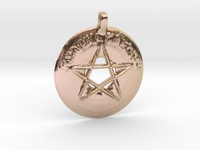 Fortuna Caeca est 1.5 in 14k Rose Gold Plated Brass