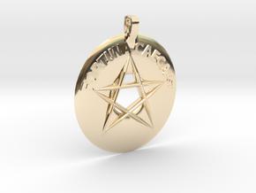 Fortuna Caeca est 2.5 in 14k Gold Plated Brass