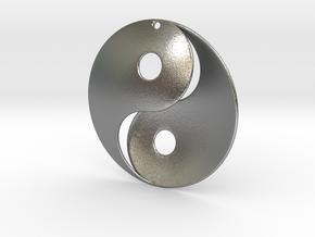 Yin Yang Pendant in Natural Silver