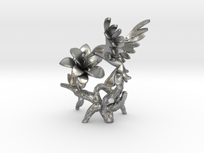 Hummingbird in Natural Silver