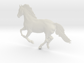 Panels, Running Horse in White Natural Versatile Plastic