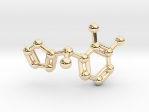 Dexmedetomidine Molecule Keychain Pendant in 14K Yellow Gold