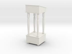 1:24 Podium in White Natural Versatile Plastic