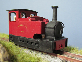 009 Irish Tram Engine 2 in Smooth Fine Detail Plastic