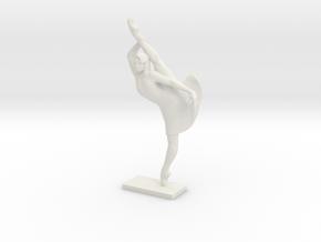Ballerina in White Natural Versatile Plastic