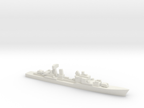 Friesland-class destroyer, 1/1800 in White Natural Versatile Plastic