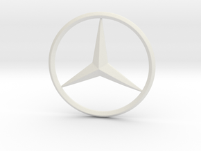Mercedes logo For Printing in White Natural Versatile Plastic