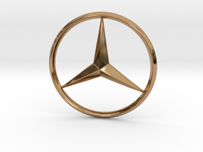 Mercedes logo For Printing in Polished Brass