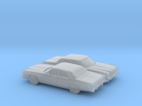 1/160 2X 1974 Lincoln Continental Sedan in Smooth Fine Detail Plastic