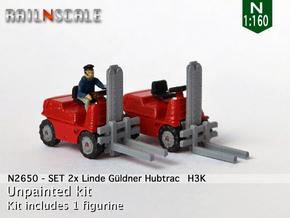 SET 2x Linde Güldner Hubtrac H3K (N 1:160) in Smooth Fine Detail Plastic