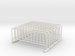 Barrier 02. Scale 1:48 in White Natural Versatile Plastic