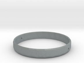 Roundy Ring in Polished Metallic Plastic