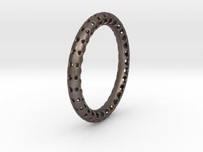 Uluzui Braclet SMALL in Polished Bronzed Silver Steel