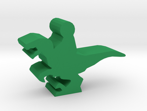 Game Piece, Raptor Dino Rider in Green Strong & Flexible Polished