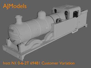 AJModels P01B Ivatt N1 69481 BR-era (Customer) in Frosted Ultra Detail