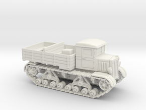 Voroshilovetz Tractor (15mm) in White Strong & Flexible
