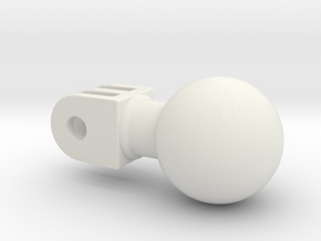 action camera ball joint in White Natural Versatile Plastic