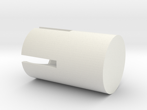 Mountblock Corners Rounded in White Natural Versatile Plastic