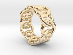 Chain Ring 24 – Italian Size 24 in 14K Yellow Gold