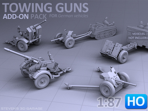 Towing Guns - (H0) in Smooth Fine Detail Plastic