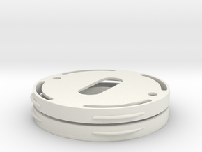 Flange for invisble mounting of  metal escutcheons in White Strong & Flexible