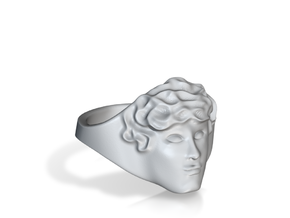 APOLLUS RING in Polished Gold Steel