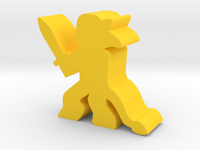 Game Piece, Griffin Faun With Sword in Yellow Processed Versatile Plastic