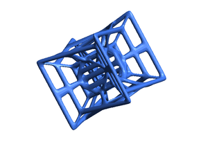 Hypercube in Blue Strong & Flexible Polished