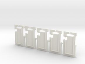 DNA75 DNA200 DNA250 v1 Screen Holder - x5 in White Natural Versatile Plastic