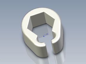 Pinball Hexagonal Post Cable Restraint (V3)  in White Processed Versatile Plastic