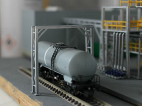 N Scale Pipe Bridge Single Track in Frosted Ultra Detail