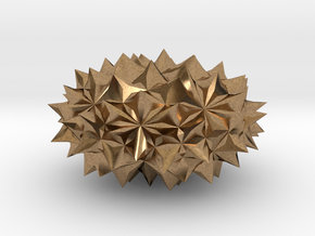Conway Polyhedron {lmbA4} in Natural Brass