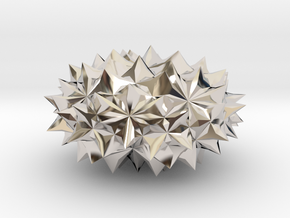 Conway Polyhedron {lmbA4} in Rhodium Plated Brass