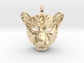 Leopard Pendan in 14k Gold Plated Brass