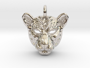 Leopard Pendan in Rhodium Plated Brass