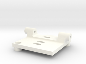 HS1177 Back Plate Mount in White Strong & Flexible Polished