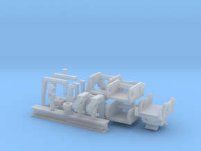 Bagger Zubehör Set 02 in Smooth Fine Detail Plastic