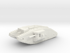 1/144 Mk.IV Male tank in White Natural Versatile Plastic
