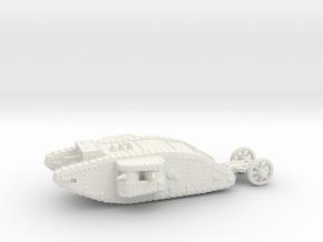 1/144 Mk.I Female tank in White Strong & Flexible