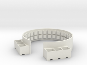 1/35 40mm Twin Gun Tub Shield in White Natural Versatile Plastic