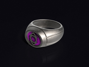 Indigo Lantern Ring in Polished Bronzed Silver Steel