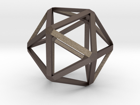Icosahedron in Polished Bronzed Silver Steel