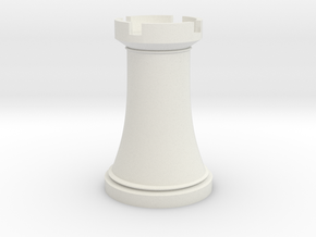 Chess Rook in White Natural Versatile Plastic
