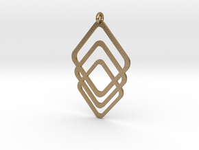 Rombs Pendant in Polished Gold Steel