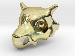 Cubone Skull Pendant in 18k Gold Plated Brass